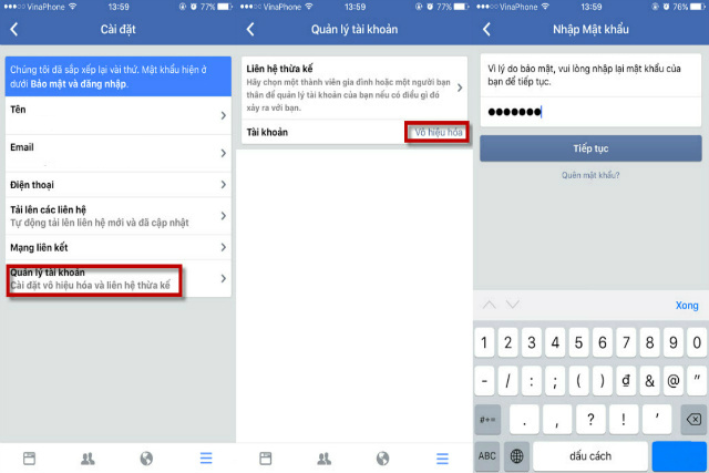khóa facebook tạm thời 4