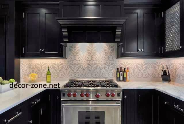 black kitchen wallpaper ideas