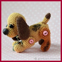 Mini perrito amigurumi