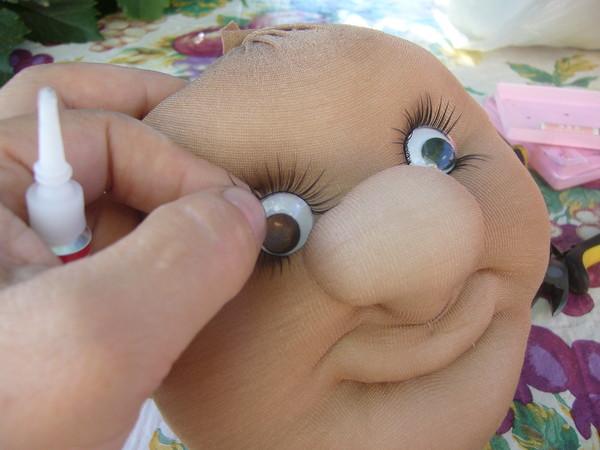 kumaş bebek göz