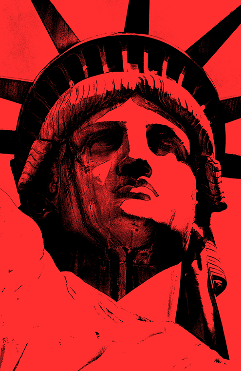 lady liberty illustration statue of liberty vector new york city por art graphic design art photoshop inkscape free estatua de la libertad nueva dibujo drawing estilo andy warhol style colors color rojo red