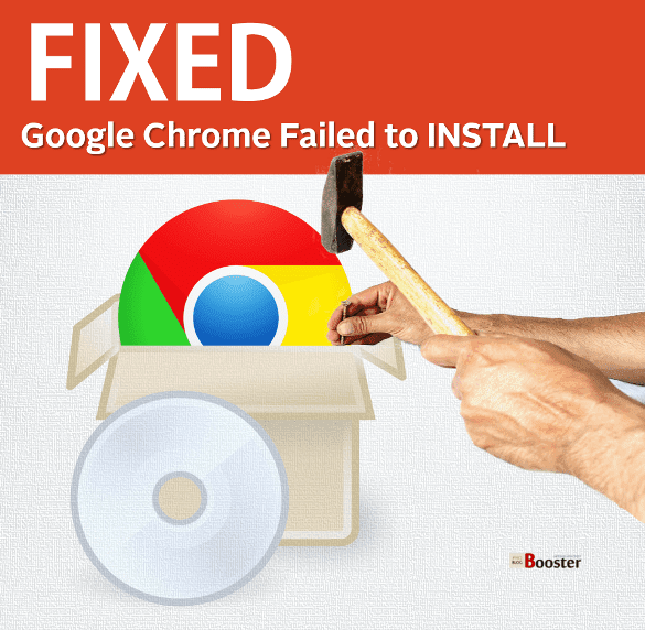 Fix google chrome installation failed on windows