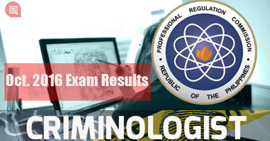 October 2016 Criminologist Board Exam Results | List of Passers #PRC