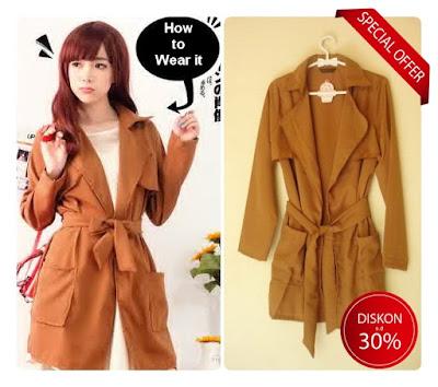 blazer trench coat jacket jaket parka wanita korea import murah