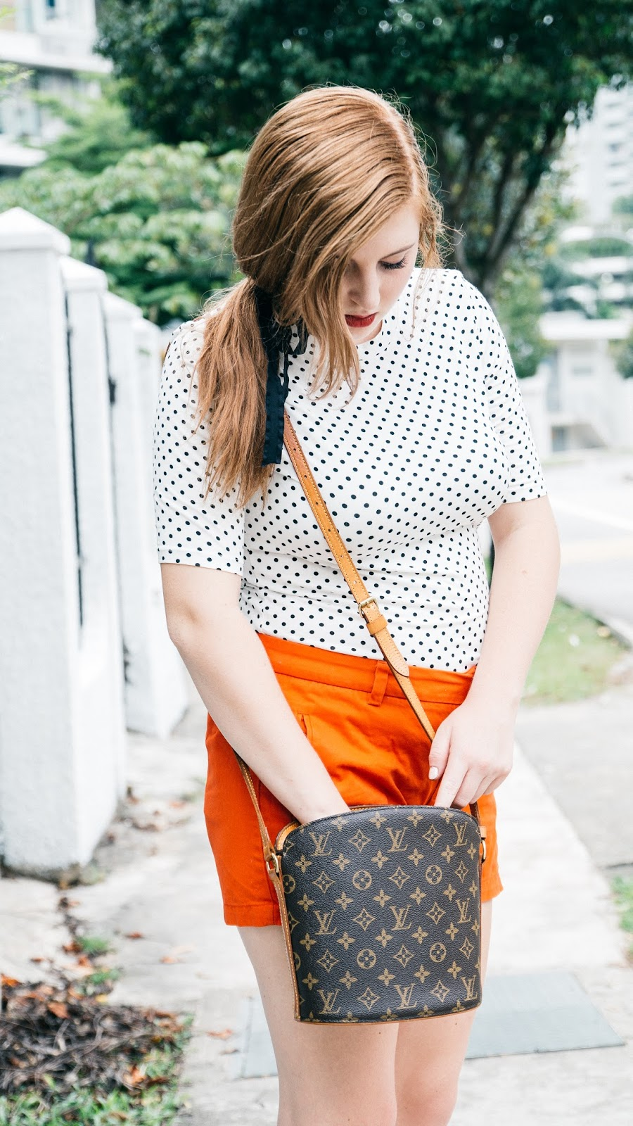 Polka Dots and Coral | Global Fashion Gal Blog
