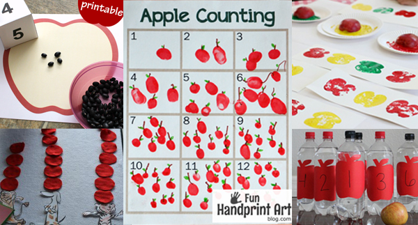 Apple Math Activities for Preschoolers