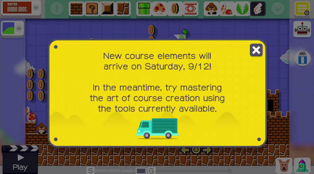 Super Mario Maker new course elements every day