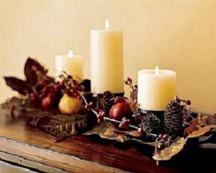 Mi casa mi hogar centros de mesa con velas navidad 2014 for Centros de mesa navidenos elegantes