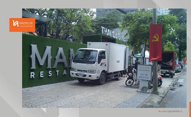 thuê xe tải chở hàng  Thai Cuisine