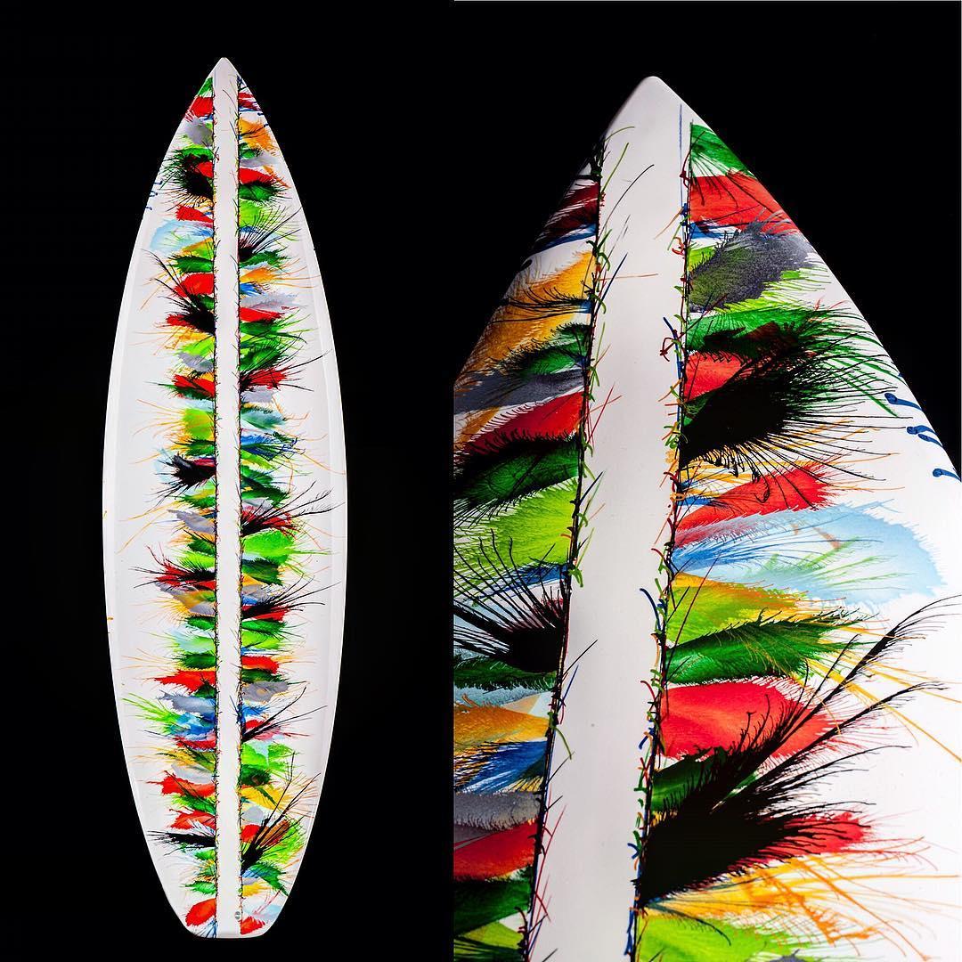Surfboards & art, el proyecto artístico de Pietro Masperi, Andrea Donadoni y Dario Pegoretti