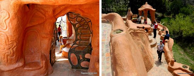 Detalhes da decoração da Casa Terracota, em Villa de Leyva, Colômbia