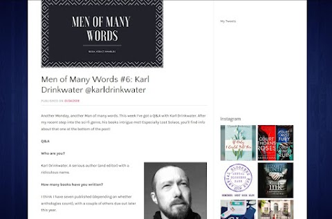 Men of Many Words #6: Karl Drinkwater