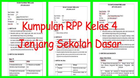 Kumpulan RPP Kelas 4 SD/MI Kurikulum 2013 Revisi 2017
