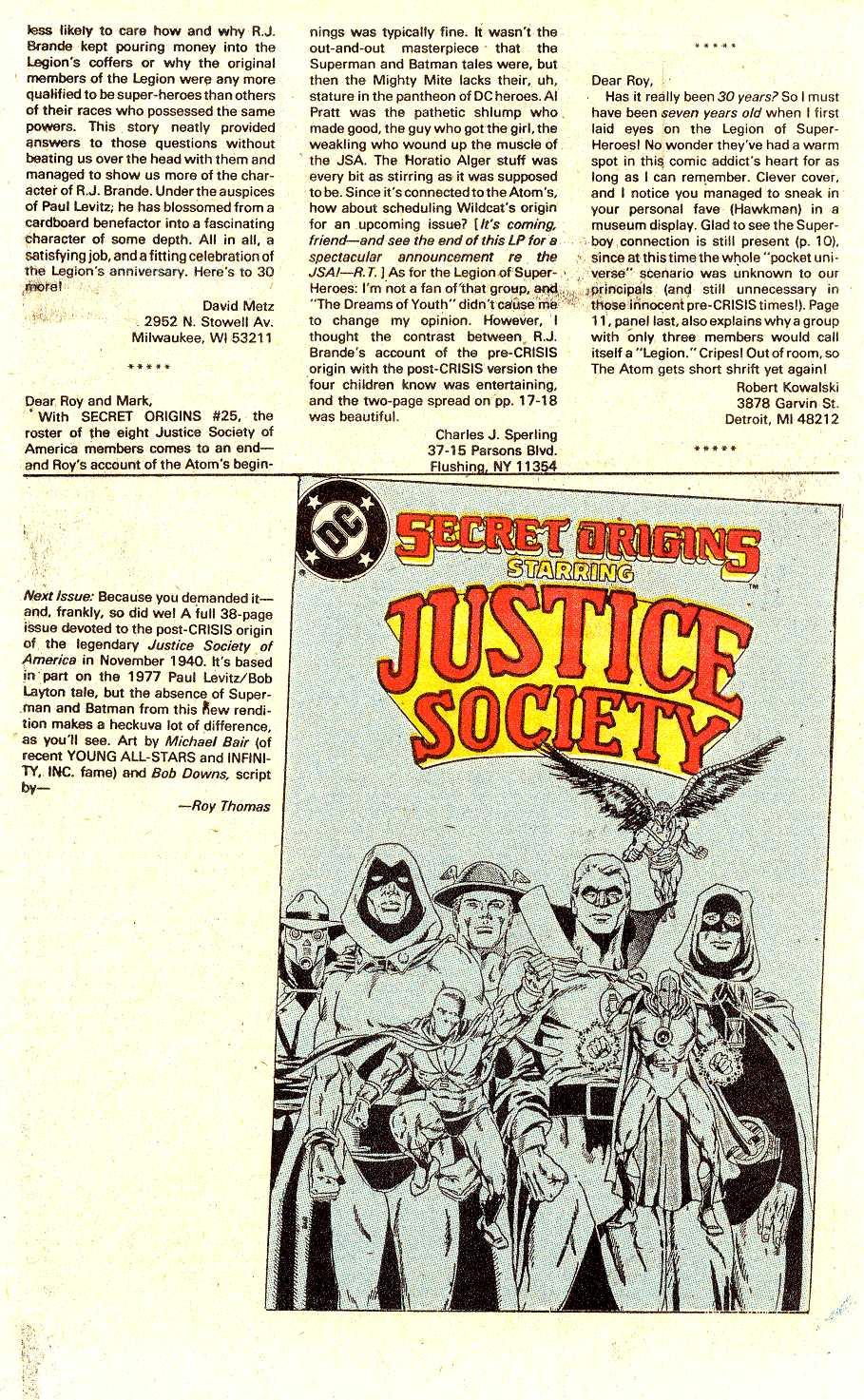 Read online Secret Origins (1986) comic -  Issue #30 - 43