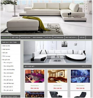mẫu web kinh doanh nội thất online