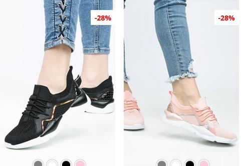 Adidasi de femei negri, roz la moda ieftini 2019