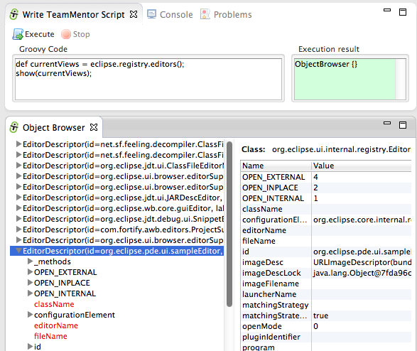 Dinis Cruz Blog: Viewing Eclipse and SWT objects (Workbench, Display