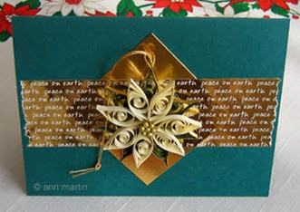 Quilled Poinsettia Tutorial by Ann Martin