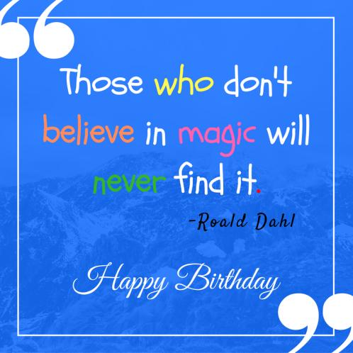 Happy Birthday Roald Dahl