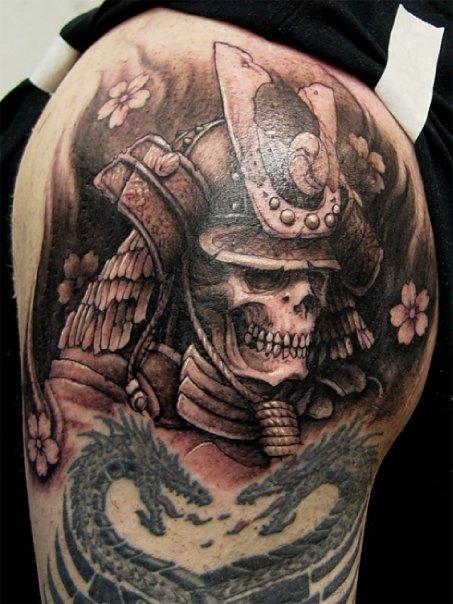 Samurai Skull And Dragon Tattoo ~ Tattoo Design Drawings