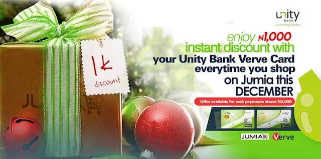 Unity Bank free 1,000 Naira