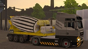 Cement Mixer trailer mod for Multiplayer
