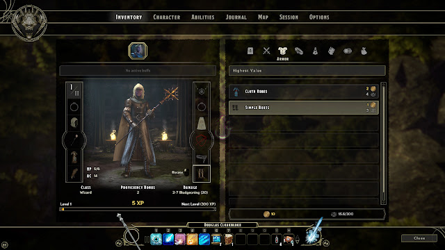 Sword Coast Legends inventory screen