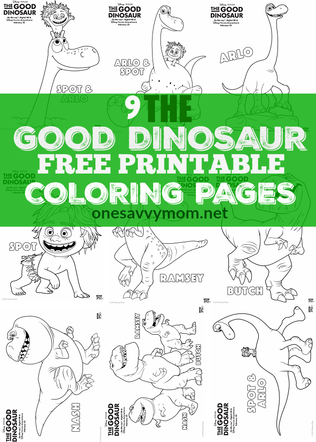 the good dinosaur free printable coloring pages 9 sheets to print more
