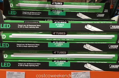 Feit Electric 4 Ft LED Linear Tubes - Simply remove any 4-ft fluorescent tube and replace with these!