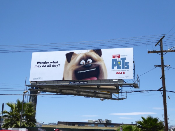 Secret Life of Pets Mel Pug billboard