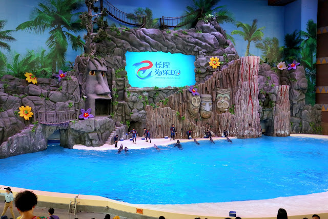 珠海長隆海洋王國表演 海豚劇場