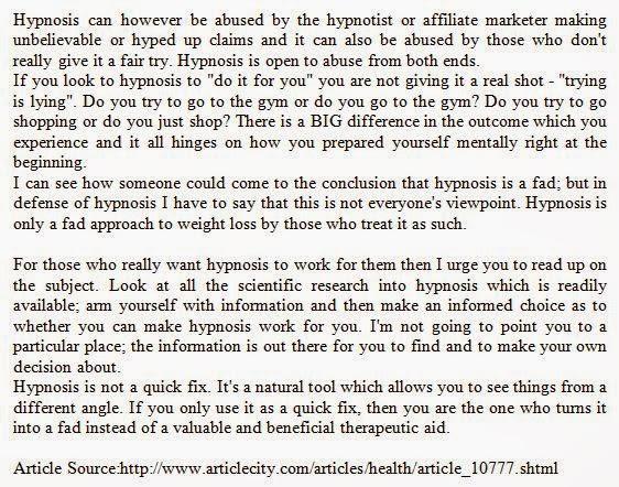 Artikel Bahasa Inggris Is Hypnosis For Weight Loss A Fad