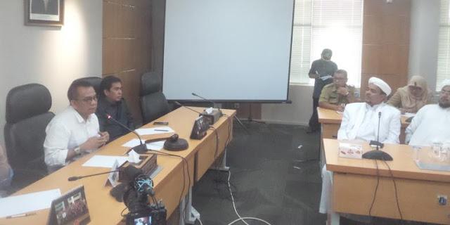 Datang ke DPRD DKI, Habib Rizieq Minta Hak Angket Dilanjutkan Publikasikan