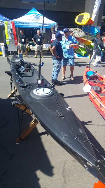 Bolt High Speed Legend Kayak fitted with rod holder