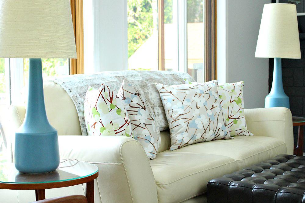 Lumimarja pillows from FinnStyle; Marimekko print