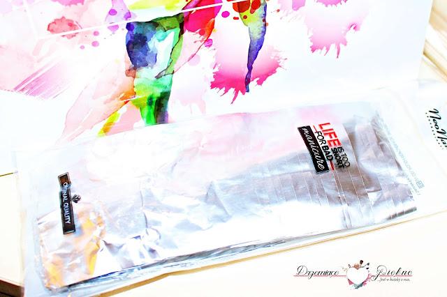 Zestaw Starter Set NeoNail z lampą 9 W | Foil Nail wraps 50 sztuk