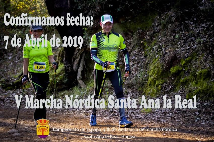 CONFIRMACIÓN OFICIAL 7 ABRIL 2019 V MARCHA NÓRDICA SANTA ANA LA REAL