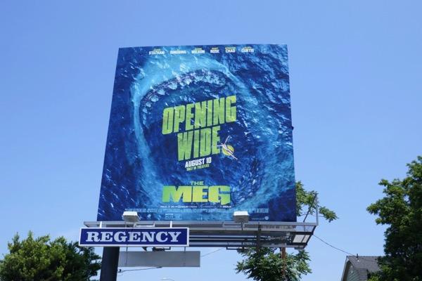 Meg Opening wide billboard