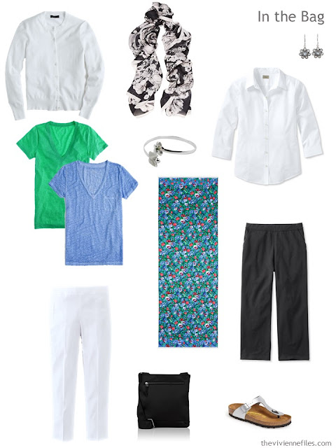 A travel capsule wardrobe inspired by Art: Femme au Col Blanc by Marc Chagall