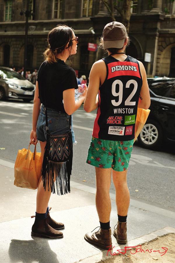 Her - RM Williams boots on the streets of Paris.. Maybe Aussies? If you're going to the Cité.. Shots from Paris on June 26 2017 for Street Fashion Sydney.
