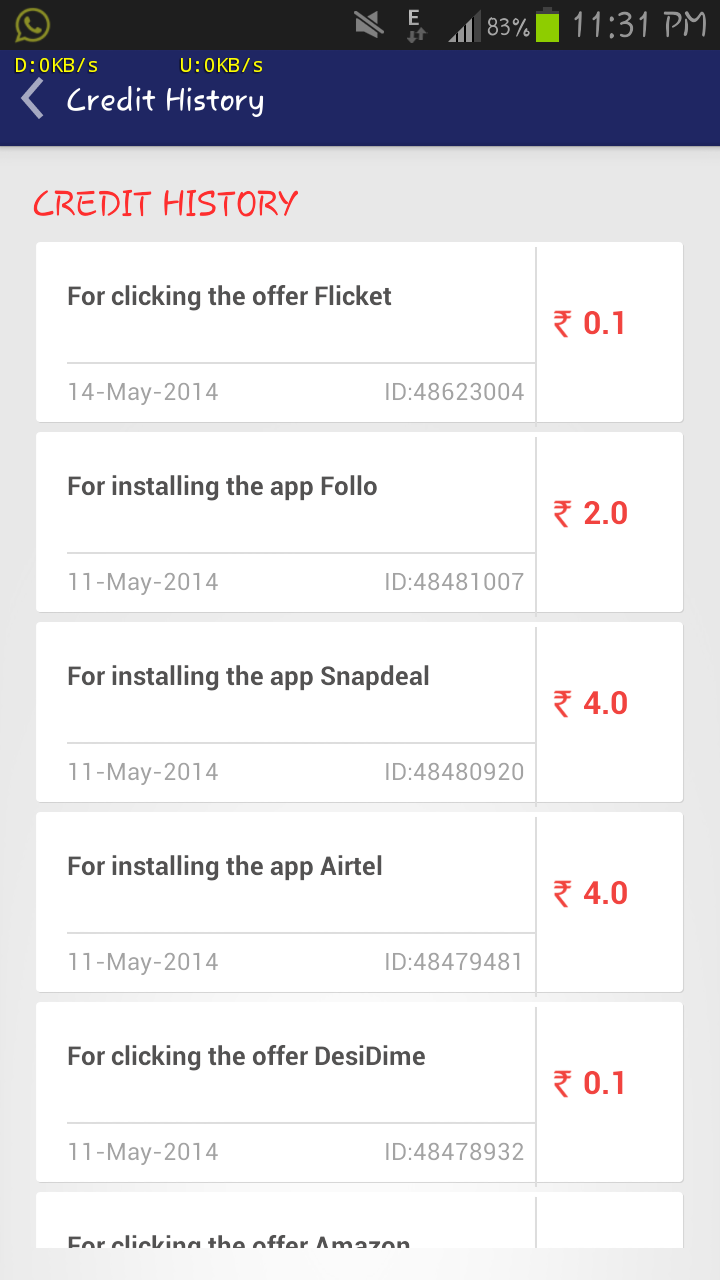 Amulyam: Get free Mobile Recharge for Downloading Android Apps