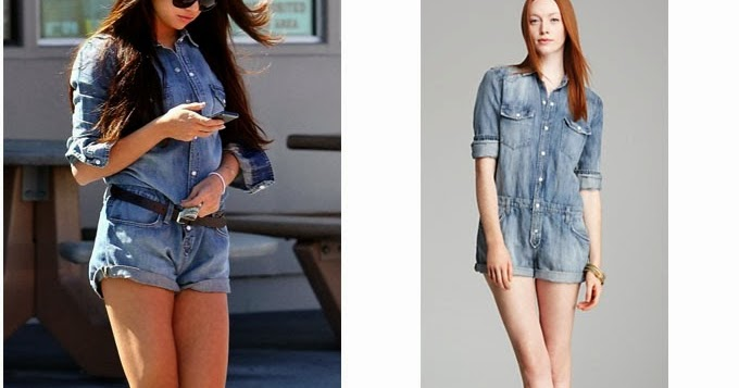 55c08349e816 WHAT SHE WORE  Selena Gomez in blue denim romper at a gas station on  October 6 ~ I want her style - What celebrities wore and where to buy it.
