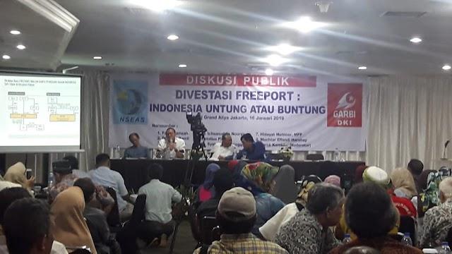 NSEAS : Optimais Tambang Freeport Bisa Menjadi Milik Indonesia