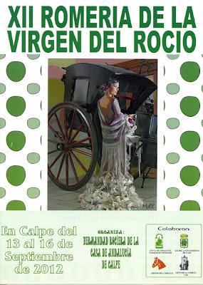 XII Romería de la Vírgen del Rocio del 13.- 16.Septiembre 2012 – Calpe, Mario Schumacher Blog