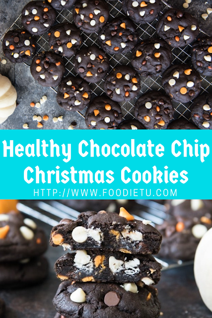 Dark Chocolate Christmas Chip Cookies