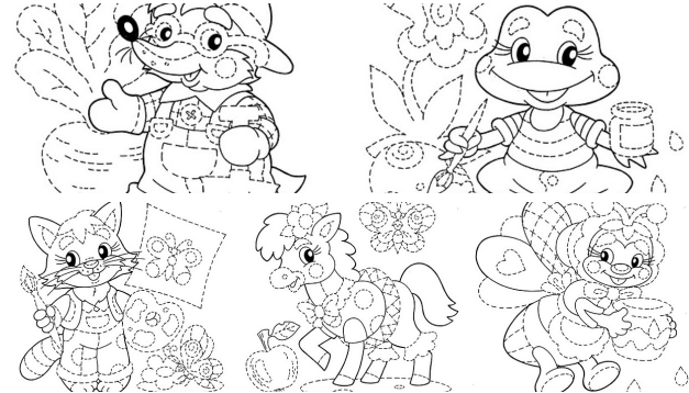 Desenhos tracejados para imprimir