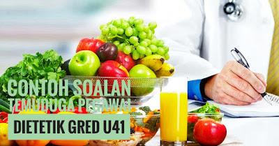 Contoh Soalan Temuduga Pegawai Dietetik Gred U41