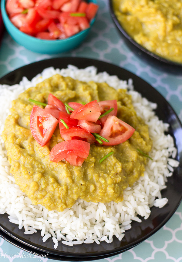 Flavorful Dhal and Rice