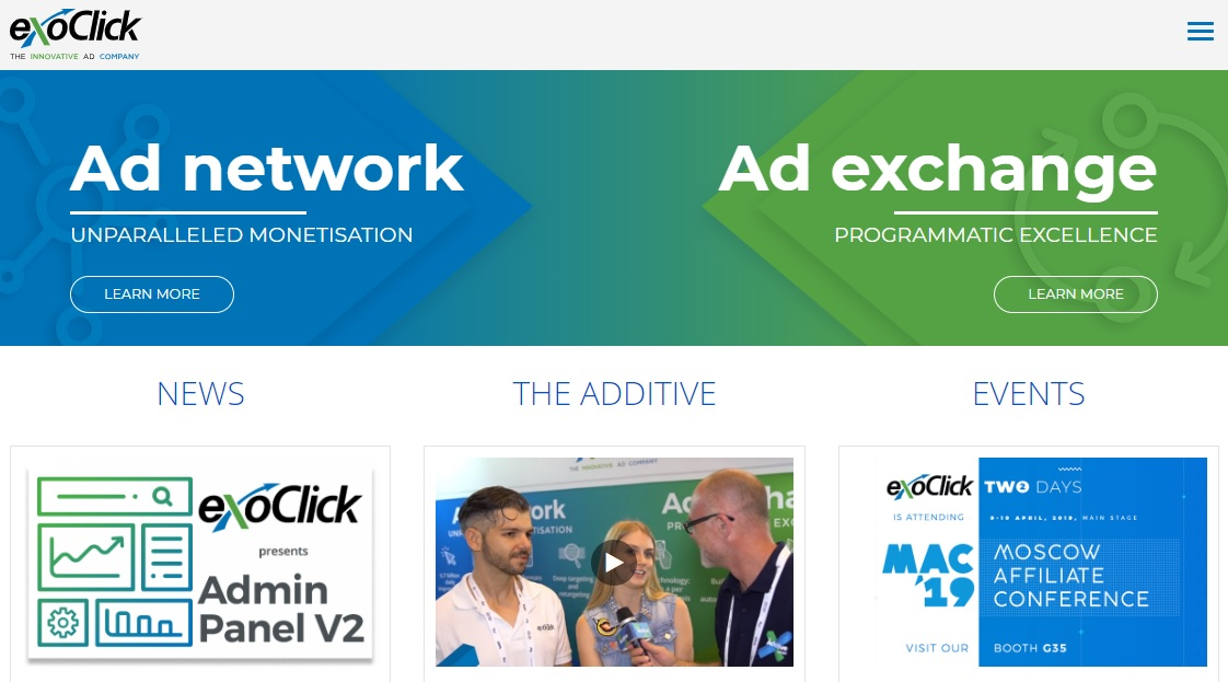 ExoClick – Best CPM, CPC, and SmartCPM based Ads Network
