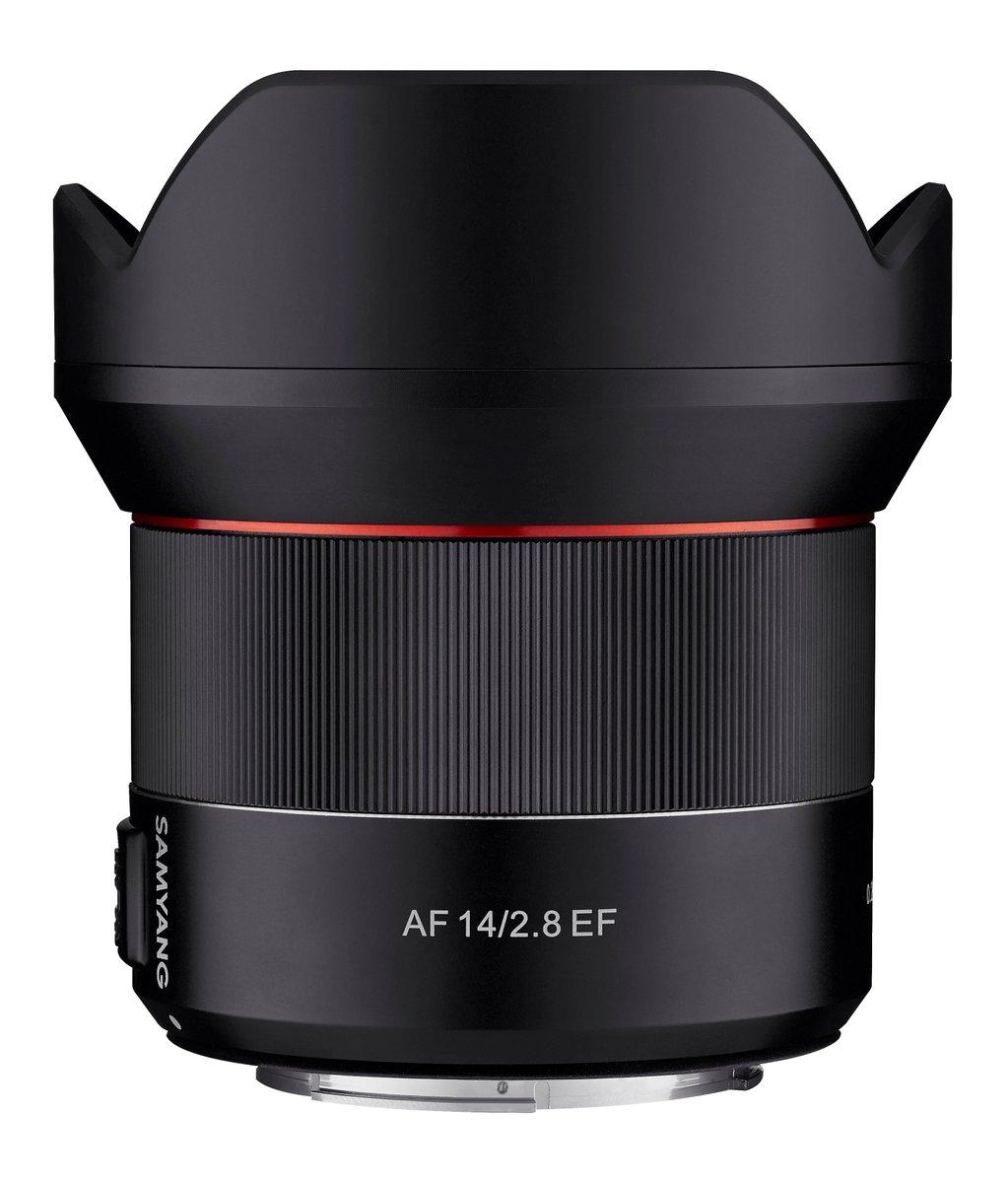 Samyang AF 14mm f/2.8 EF, вид сбоку